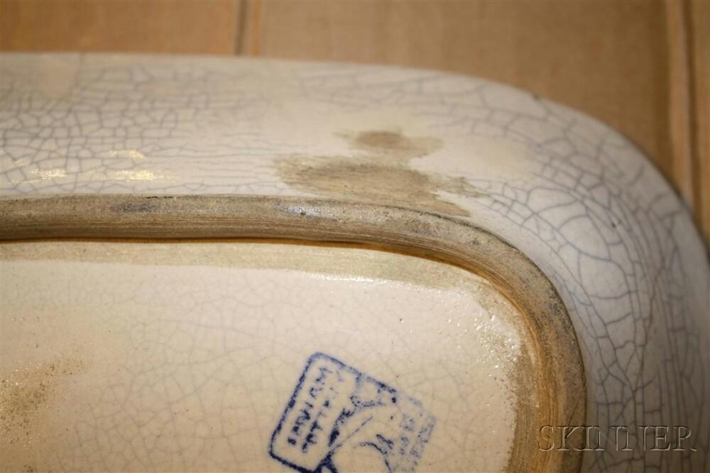 Six Dedham Pottery Rabbit Pattern Tableware Items