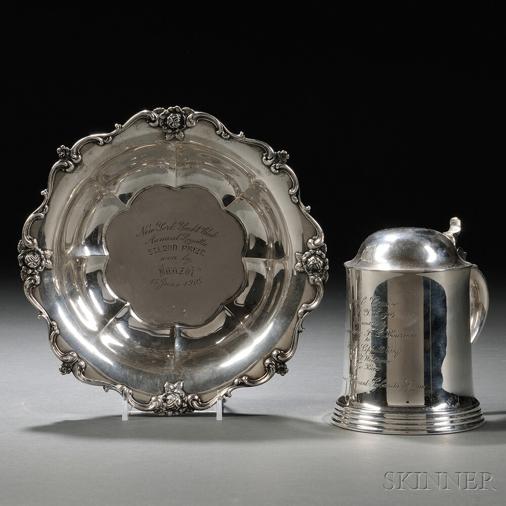 Two American Sterling Silver New York Yacht Club Trophies