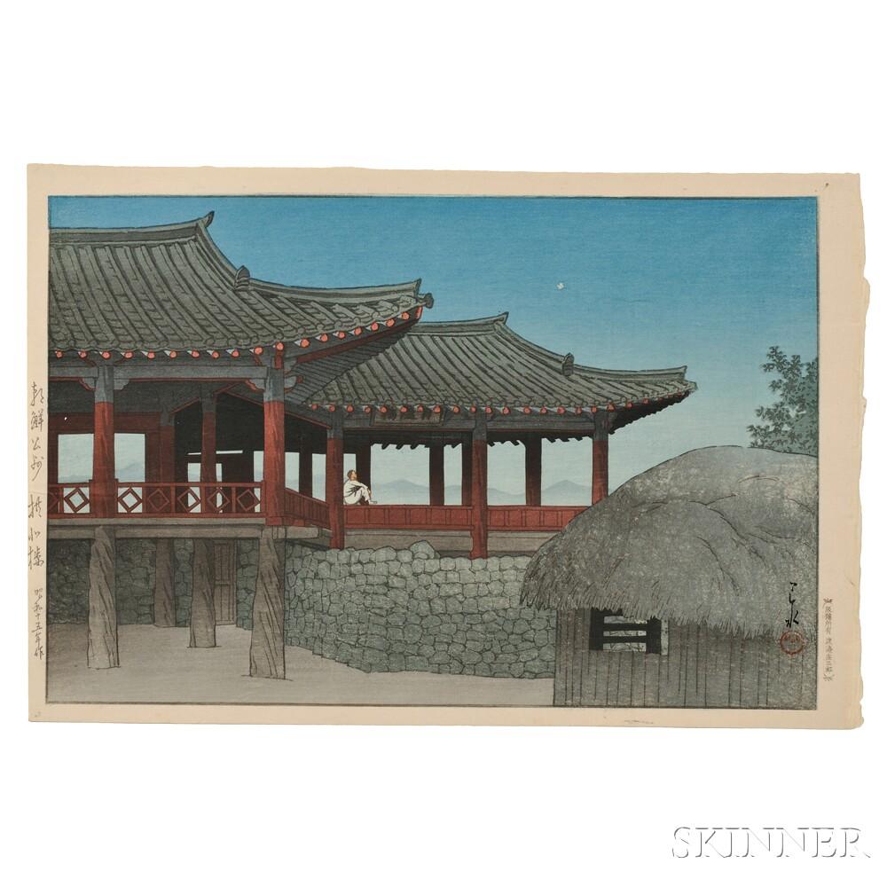 Kawase Hasui (1883-1957), Observation Pavilion in Korea