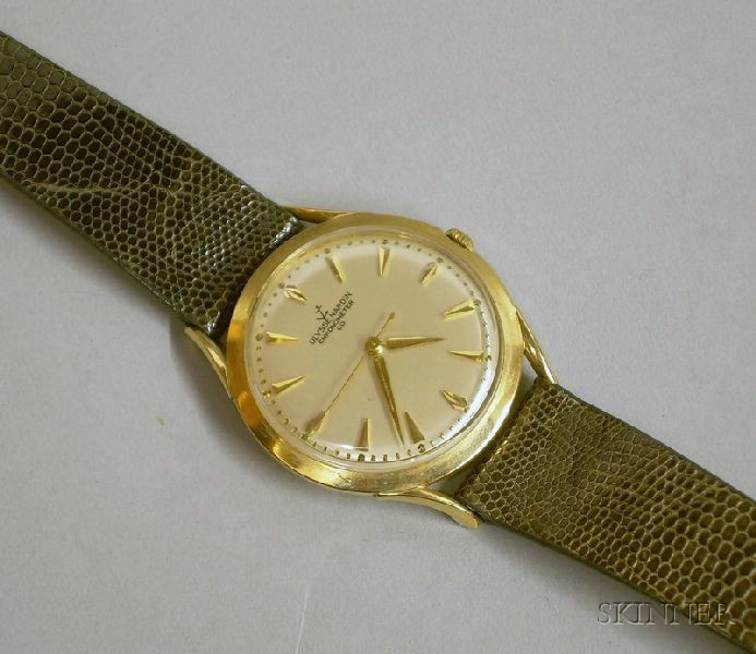 Vintage Ulysse Nardin 14kt Yellow Gold 17-jewel Chronometer Man's Wristwatch