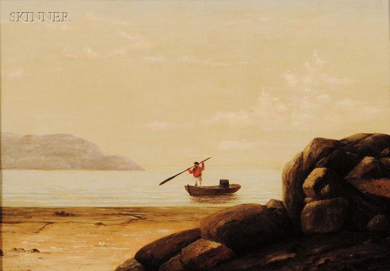 Mary Blood Mellen (American, 1817-1882)      Boat in Gloucester Harbor
