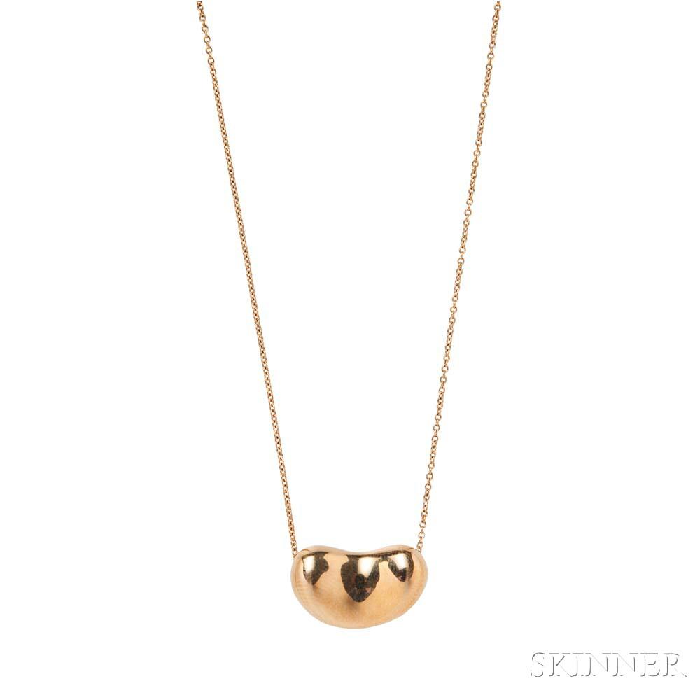 "18kt Gold ""Bean"" Necklace, Elsa Peretti, Tiffany & Co."