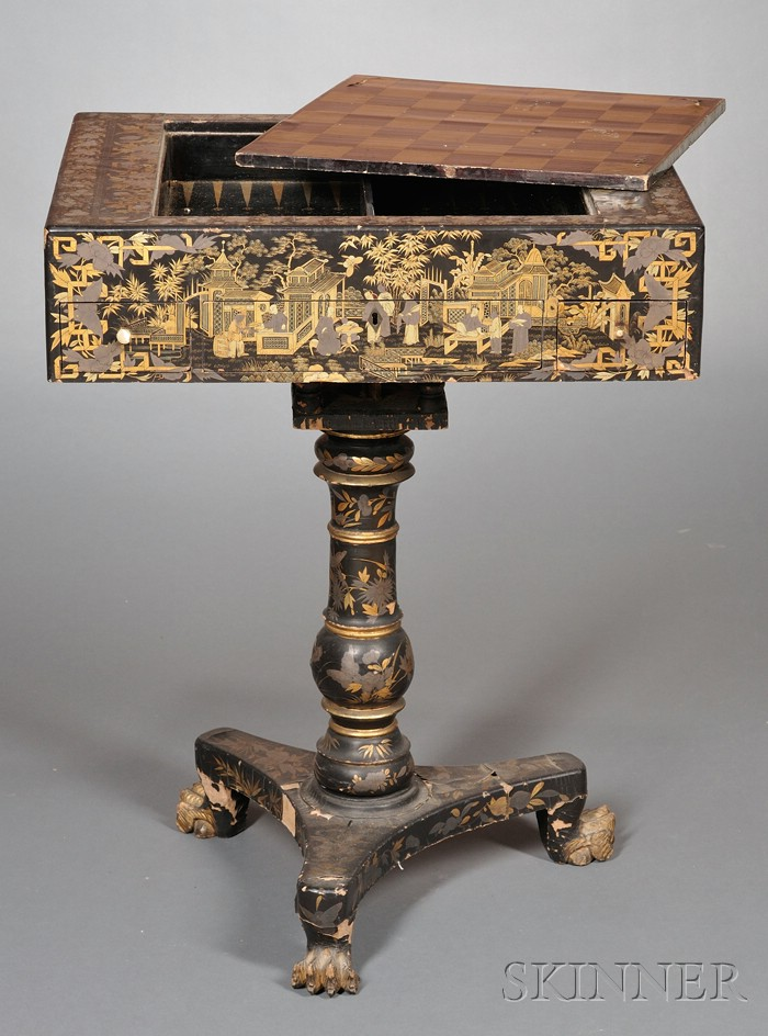 Chinese Export Lacquerware Game Board Table