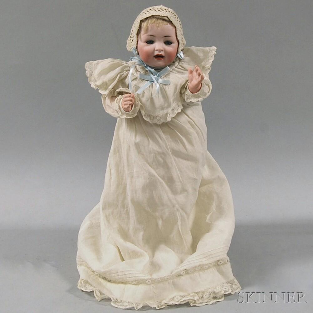 German Bisque Socket Head Character Baby