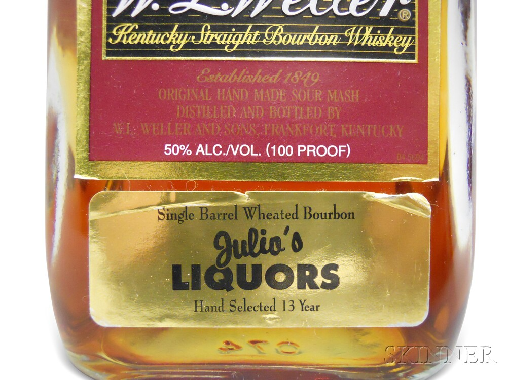 W.L. Weller Centennial Bourbon 10 Years Old (Julios Pick), 1 750ml bottle