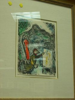 Framed Print After Chagall.