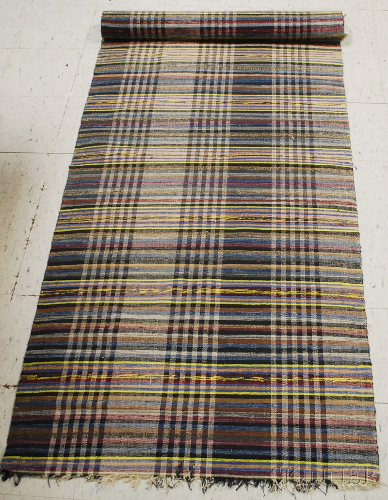 Long Woven Rag Rug