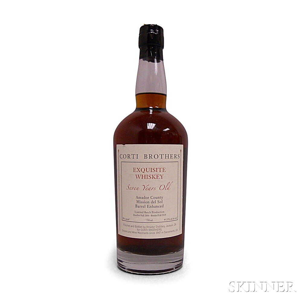 Amador Distillery for Corti Brothers Exquisite Whiskey 7 Years Old, 1 750ml bottle