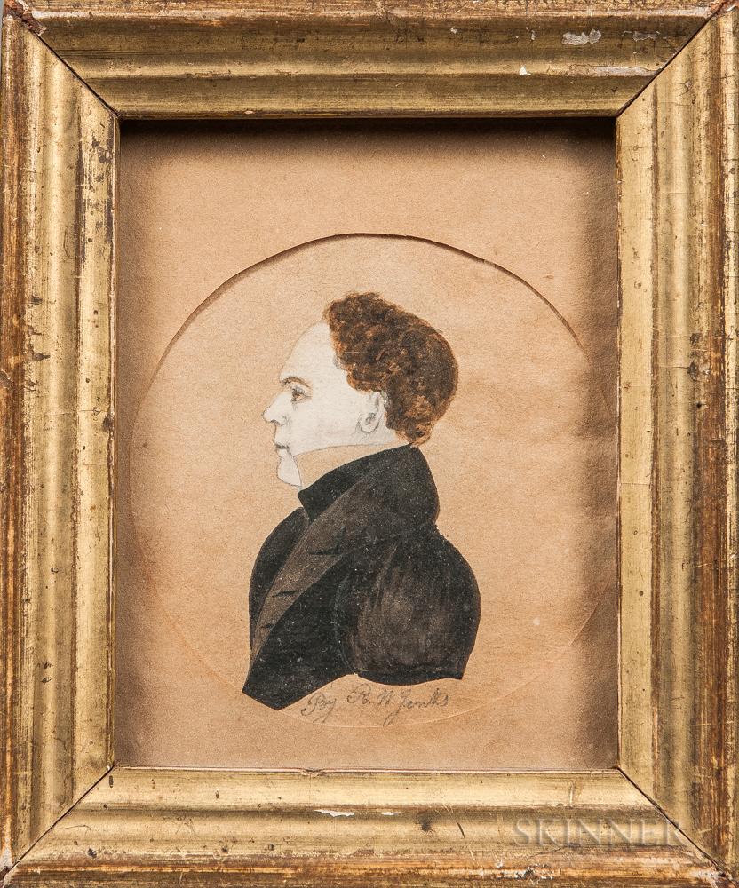 R.W. Jenks (American, 19th Century)      Portrait of a Gentleman