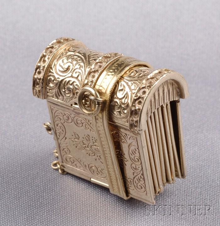 Victorian 9kt Gold Book Bracelet