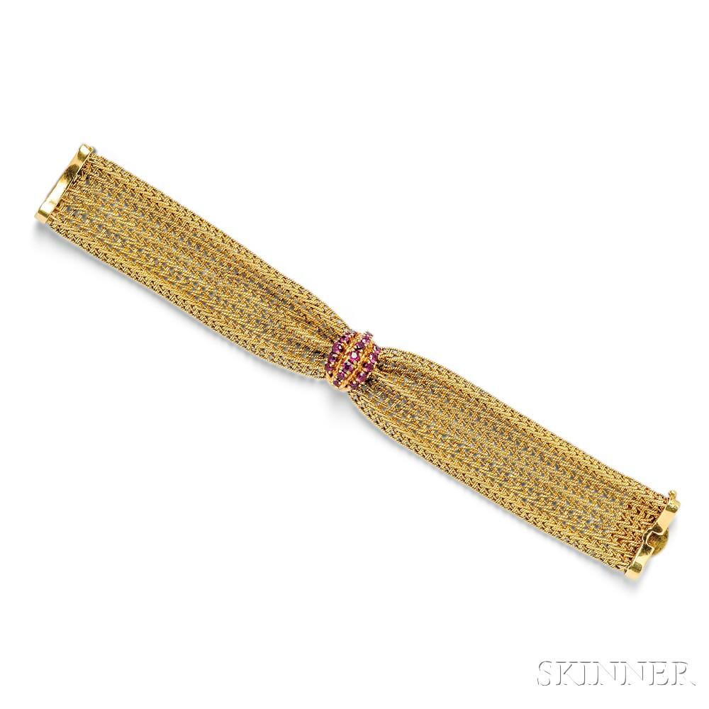 14kt Gold and Ruby Bracelet, F&F Felger