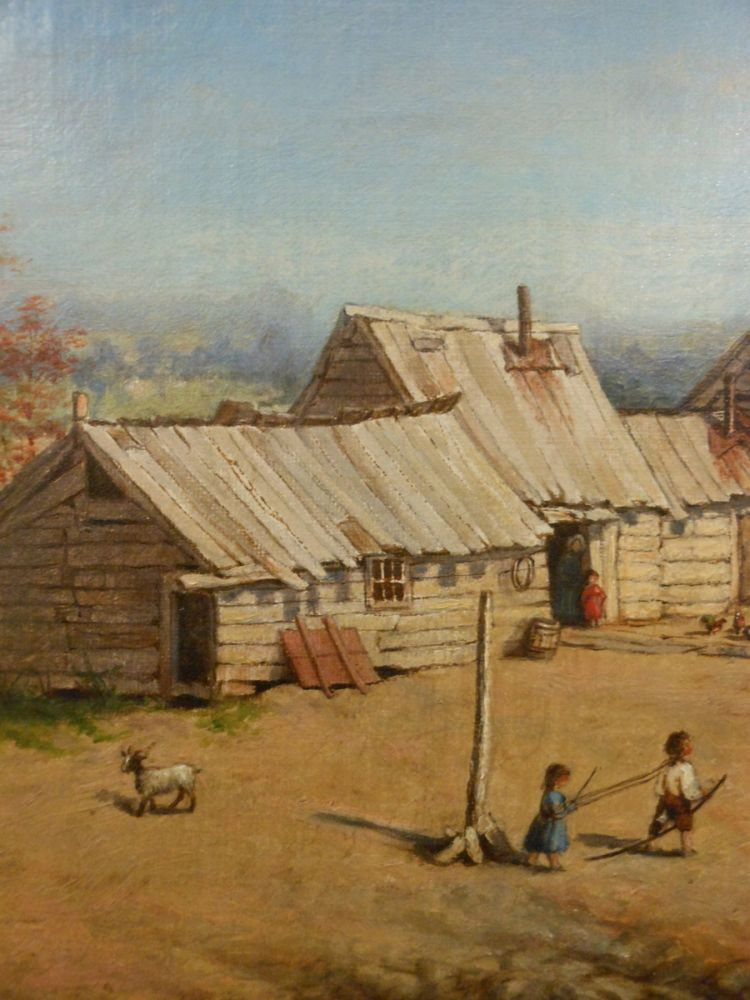 American School, 19th Century      Squatters' Cabins, Central Park, New York
