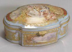 Sevres Porcelain Dresser Box