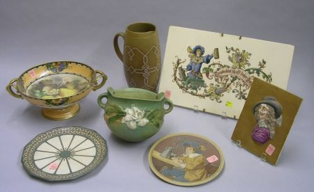Seven Pieces of Assorted Decorated Collectible Ceramics