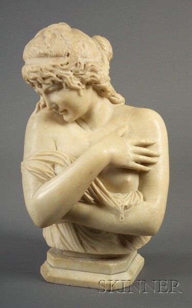 Italian Marble Bust of a Classical Maiden
