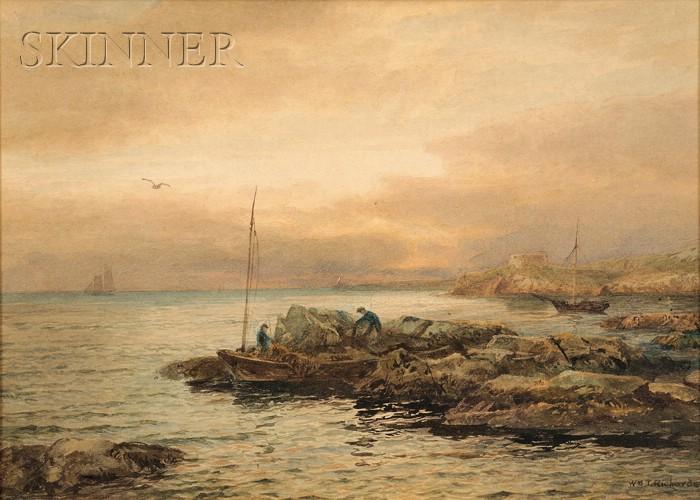 William Trost Richards (American, 1833-1905)      Gathering Sea Weed