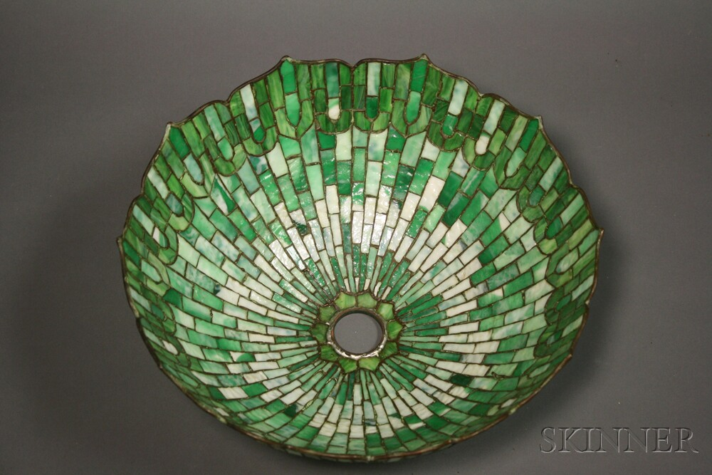 Mosaic Glass Table Lamp Attributed to Gorham