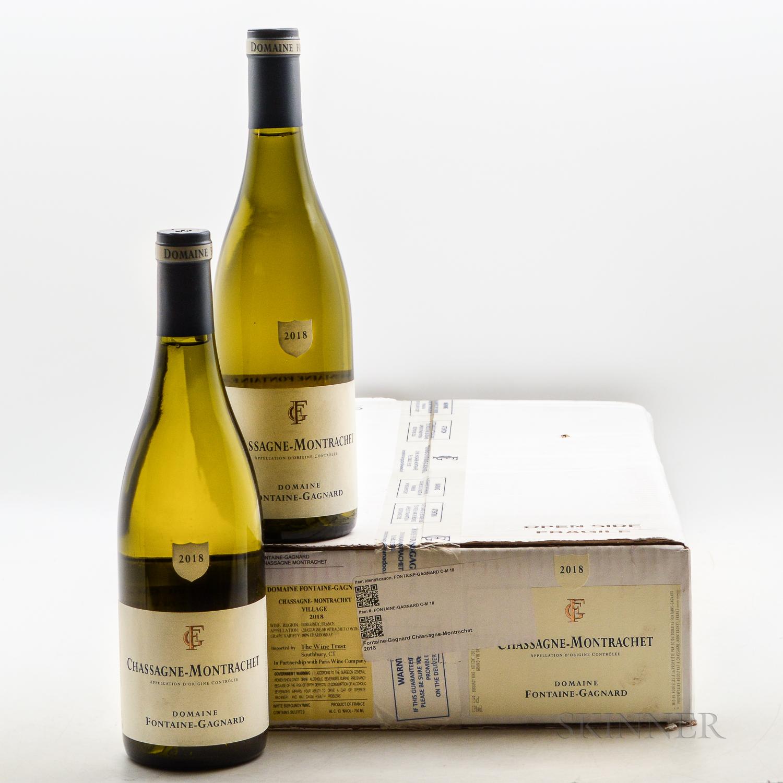 Fontaine Gagnard Chassagne Montrachet 2018, 7 bottles