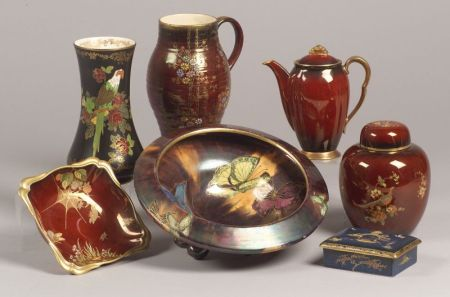 Fourteen Pieces of English Art Pottery