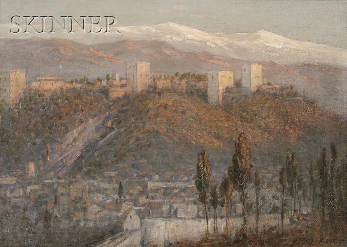 John Ferguson Weir (American, 1841-1926)      Sundown at the Alhambra