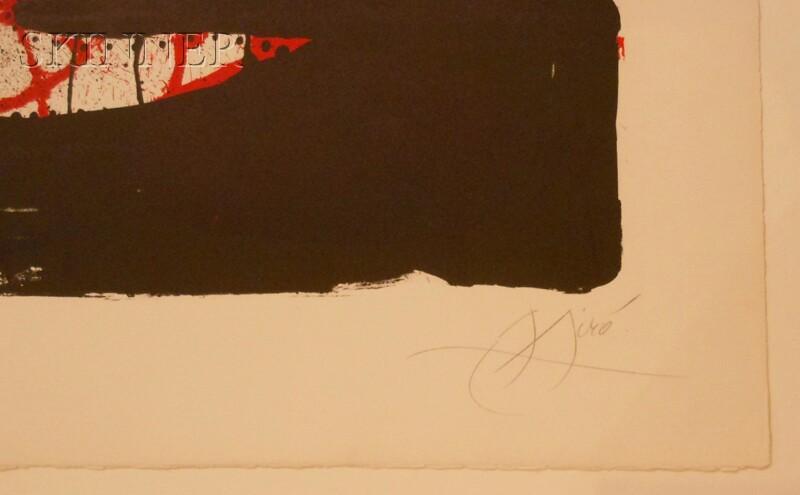 Joan Miró (Spanish, 1893-1983)      L'équarrisseur à l'ouvrage
