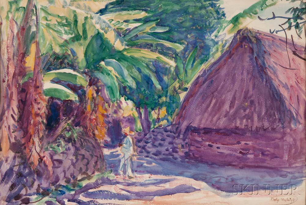 Dodge Macknight (American, 1860-1950)      Village Path, Mexico