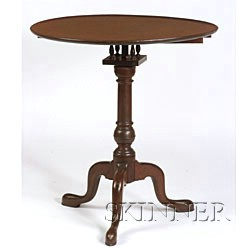 Chippendale Cherry Tilt-top Table