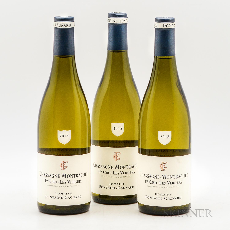 Fontaine Gagnard Chassagne Montrachet Les Vergers 2018, 3 bottles