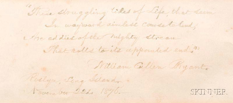 Bryant, William Cullen (1794-1878)