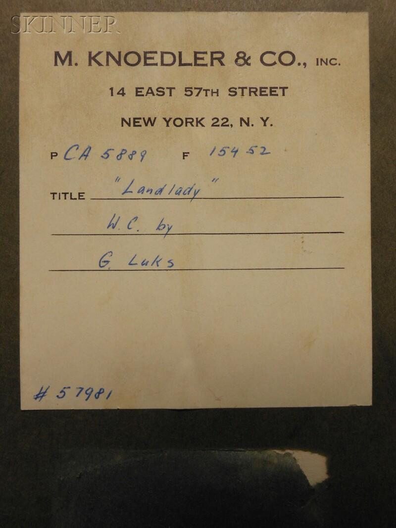 George Benjamin Luks (American, 1867-1933)      Landlady