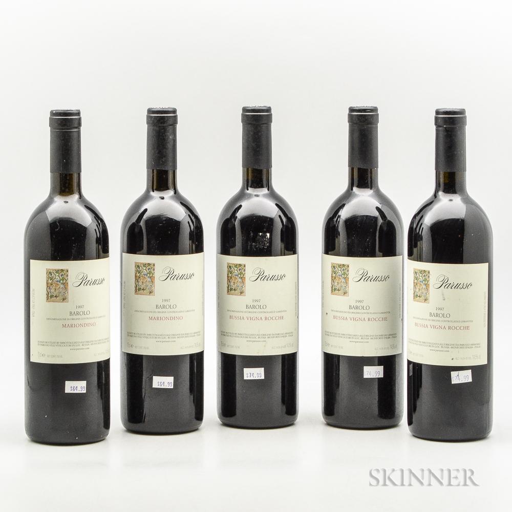 Parusso, 5 bottles
