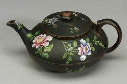 Wedgwood Black Basalt Teapot and Cover