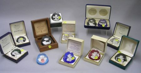 Twelve Collectible Glass Paperweights