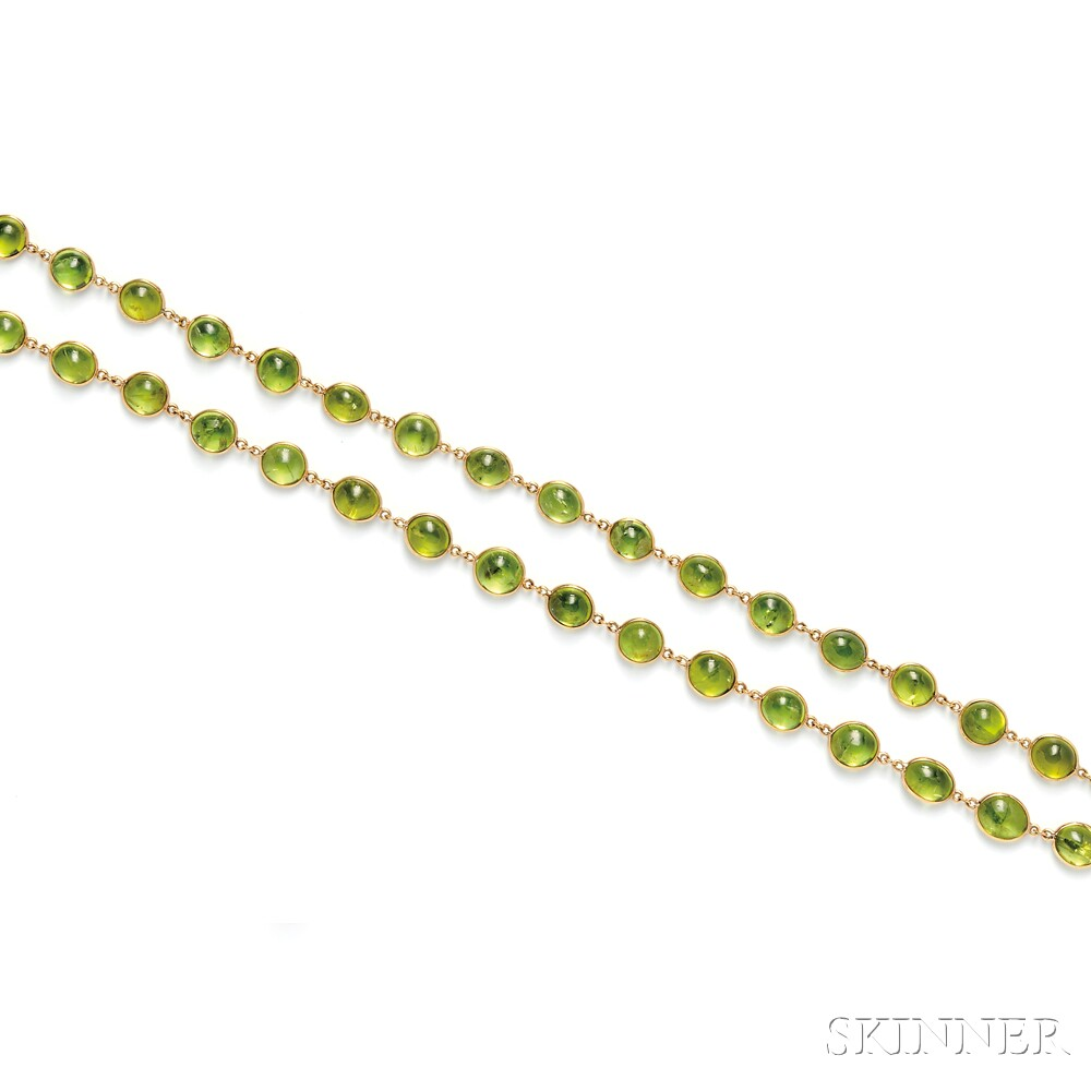 18kt Gold and Peridot Necklace