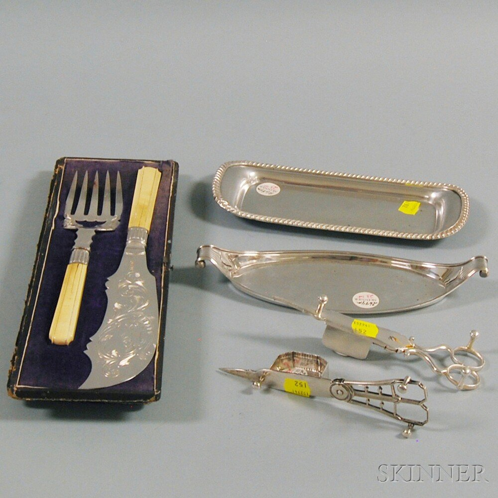 Small Group of Silver-plated TablewareSmall Group of Silver-plated Tableware