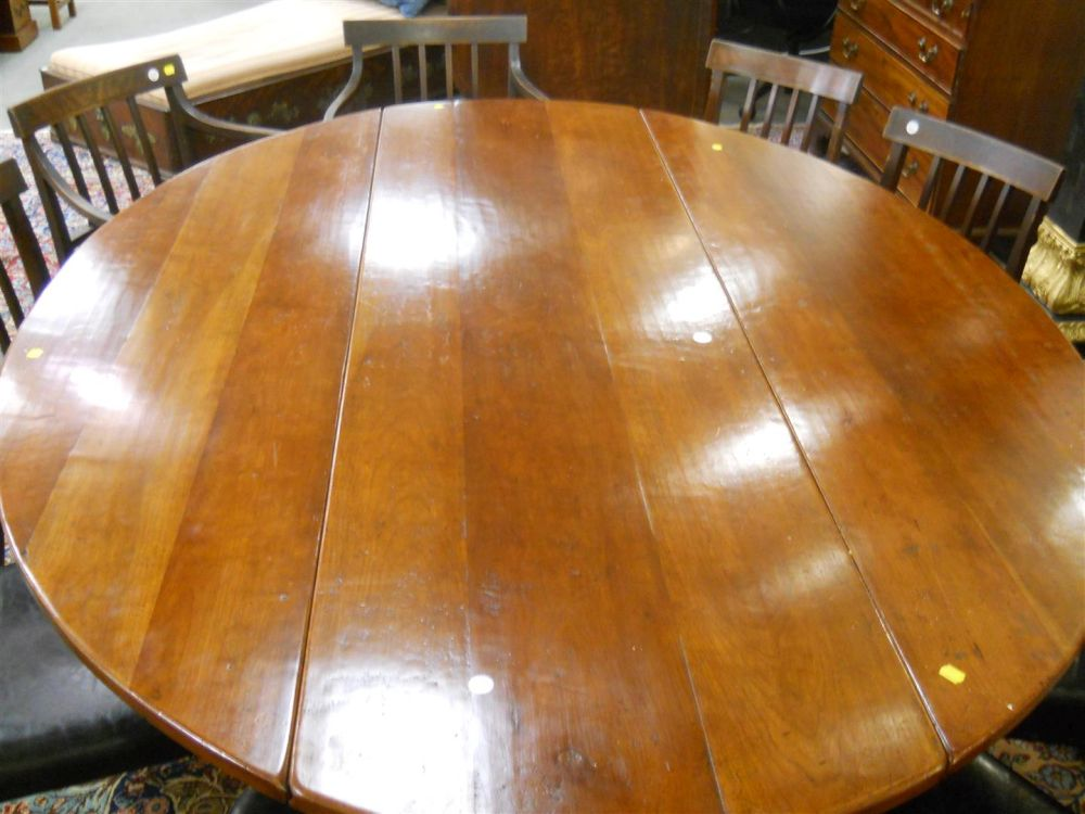 Georgian-style Mahogany Drop-leaf Dining Table