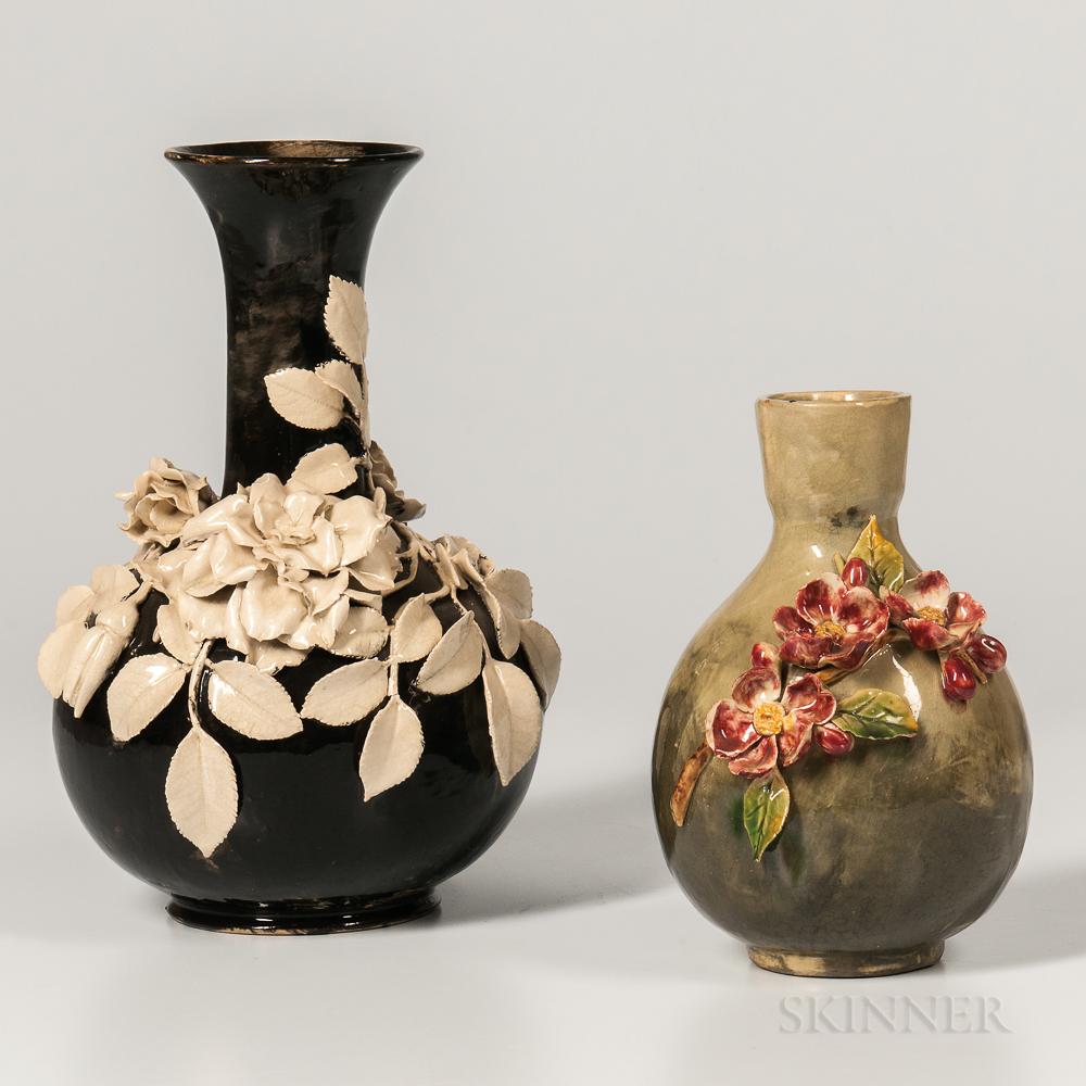 Rookwood and T.J. Wheatley Barbotine Vases