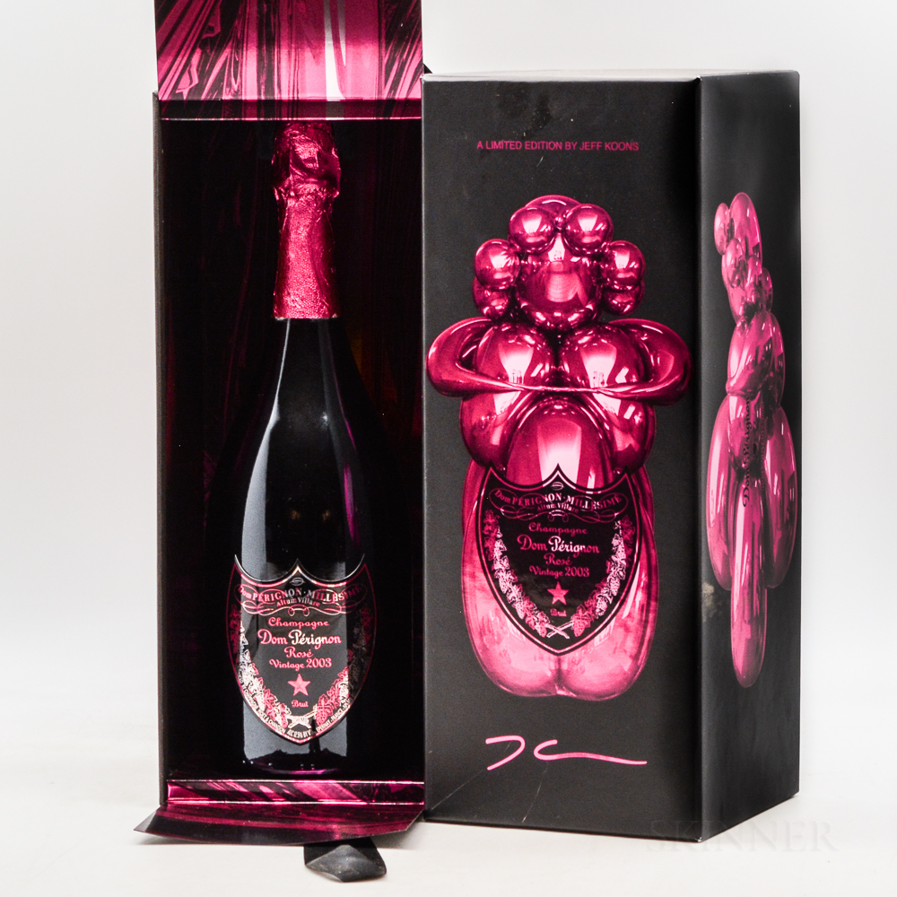 Moet & Chandon Dom Perignon Rose Limited Edition (Label by Jeff Koons) 2003, 1 bottle (pc)