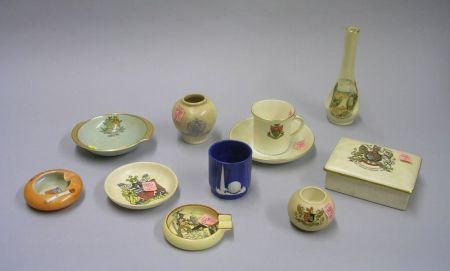 Eleven Pieces of Assorted Commemorative and Souvenir Ceramic Tableware.