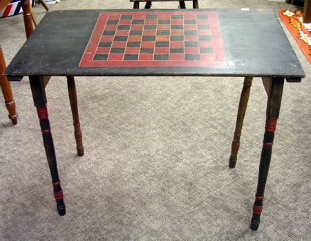 Painted Wooden Game Board-top Folding Table.