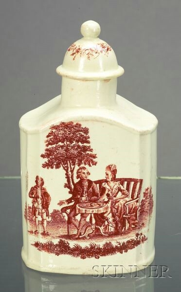 Wedgwood Queen's Ware Tea Canister and Cover