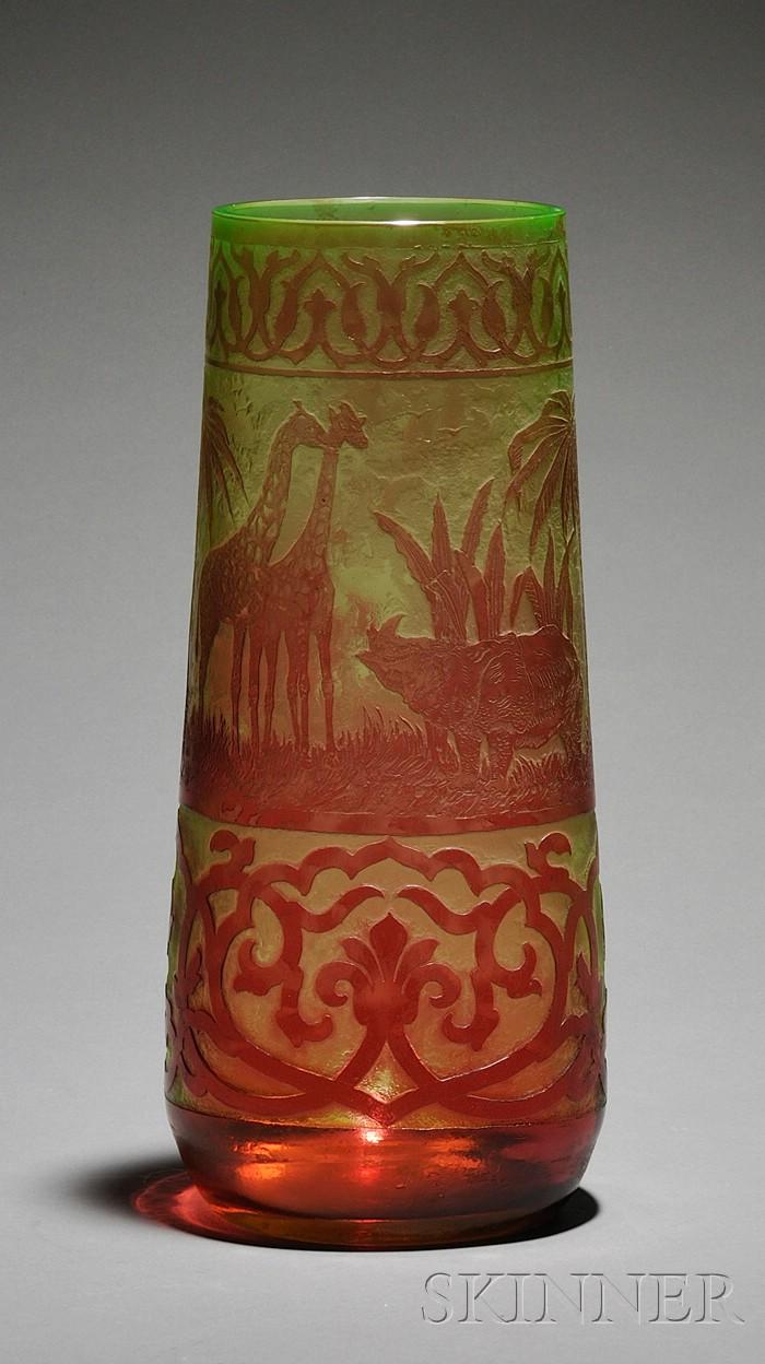 Moser Cameo Glass Vase