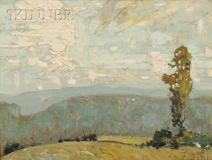 Roy Henry Brown (American, 1879-1956)      Hilltop Landscape Vista