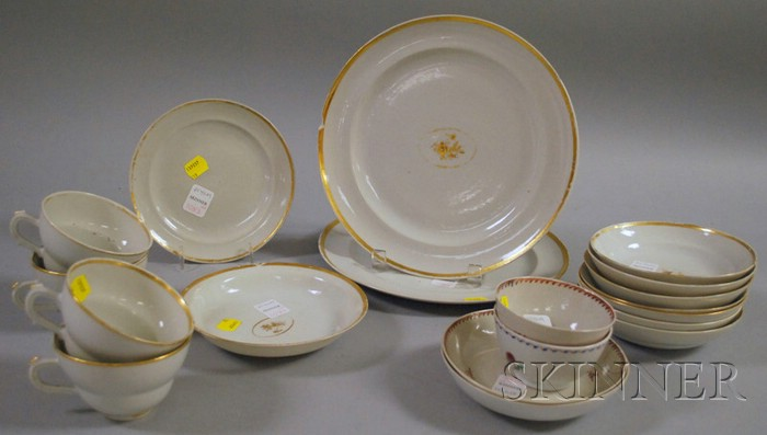 Ten Pieces of Chinese Export Porcelain Tableware