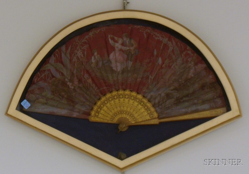 Pair of Framed Fans