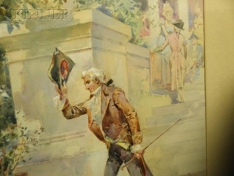Walter Granville-Smith (American, 1870-1938)      Bonjour.