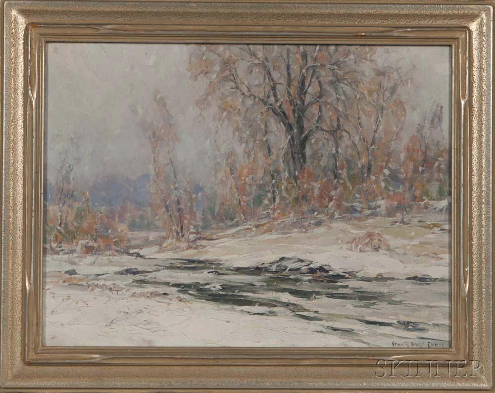 Frank Chase (American, 1886-1958)    Winter Landscape