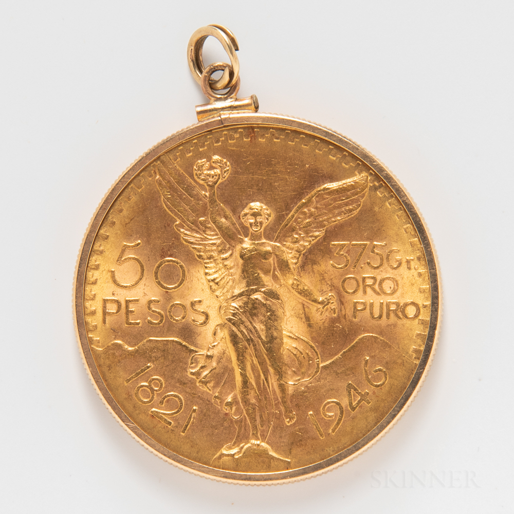 1946 Mexican 50 Pesos Gold Coin