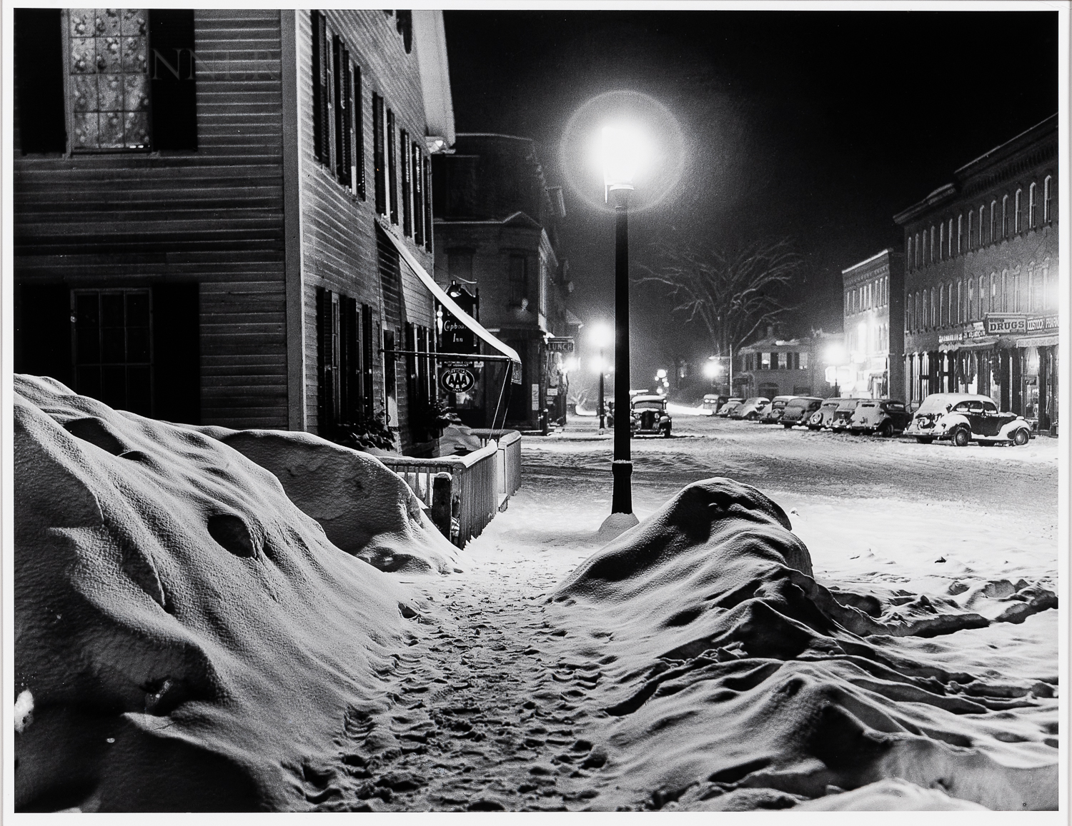 Marion Post Wolcott (American, 1910-1990)      Center of Town, after Blizzard, Woodstock, VT