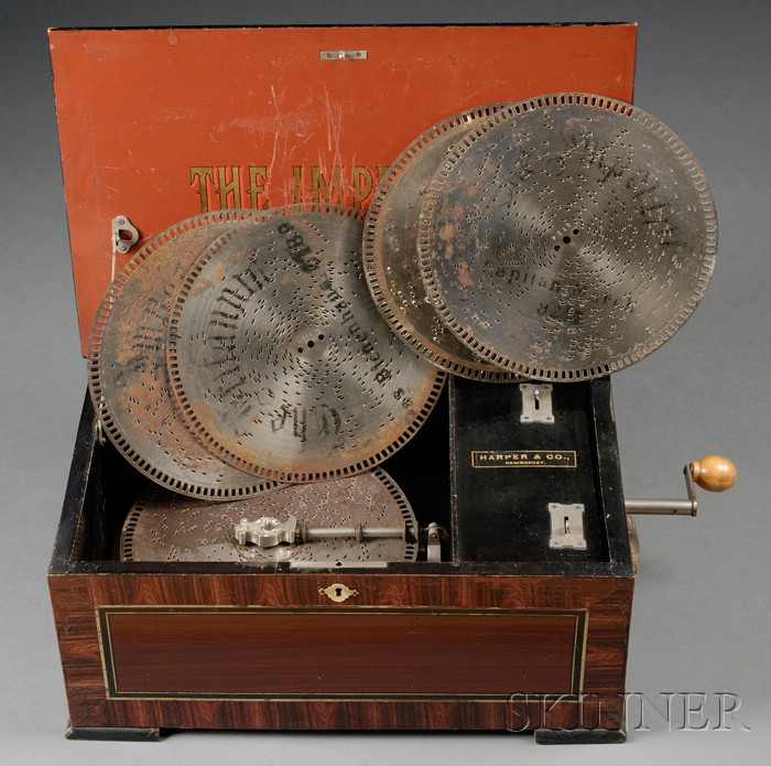 9-inch Disc Musical Box by B.H. Abrams